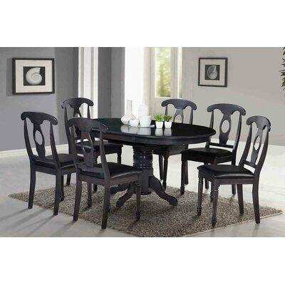 Valleyview 7 Piece Dining Set Finish: Dark Gray