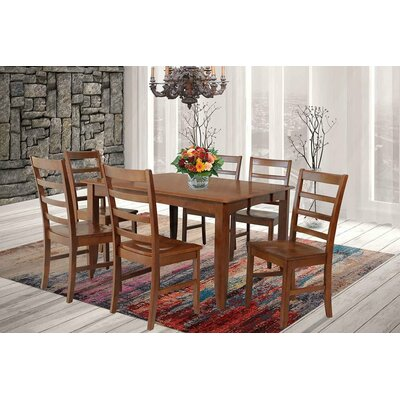 Wabasca Extendable Dining Table Finish: Saddle Brown
