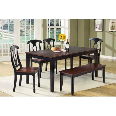 Boswell 6 Piece Dining Set Finish: Distressed Light Cherry / Black