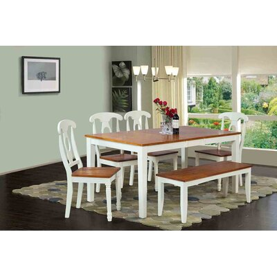 Boswell 6 Piece Dining Set Finish: Oak / White