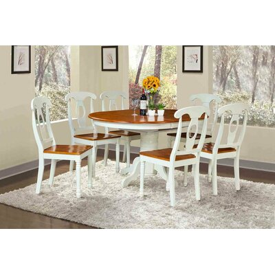 Valleyview 7 Piece Dining Set Finish: Oak/White