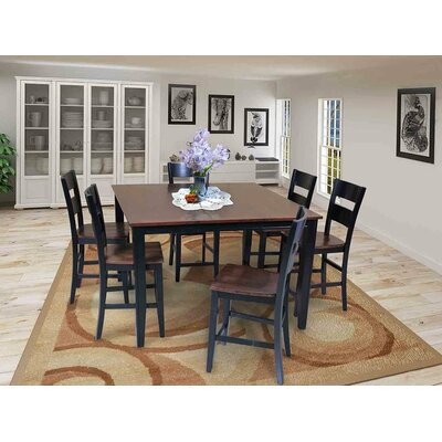 Blairmore Counter Height Dining Table Finish: Cherry / Black