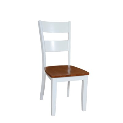 Two Sturdy Dining Side Chair Finish: Oak and White
