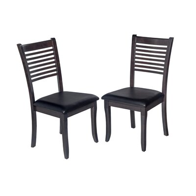 Two Sturdy Dining Chair Finish: Dark Gray