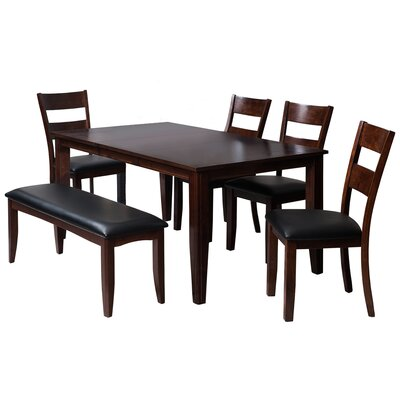 Aden 6 Piece Dining Set Finish: Espresso