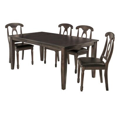 Aden 5 Piece Dining Set Finish: Dark Gray