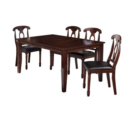 Aden 5 Piece Dining Set Finish: Espresso