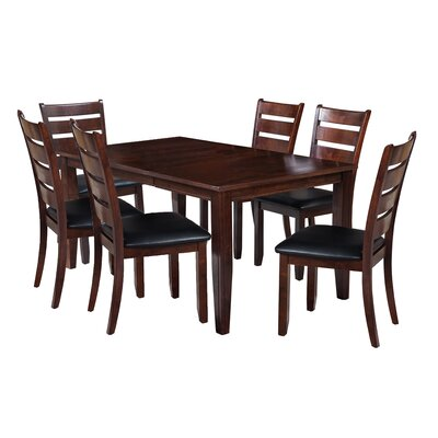 Aden 7 Piece Dining Set Finish: Espresso