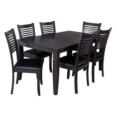 Aden 7 Piece Dining Set Finish: Dark Gray