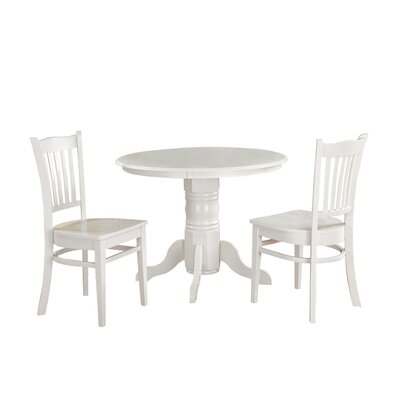 Morley 3 Piece Dining Set Finish: White
