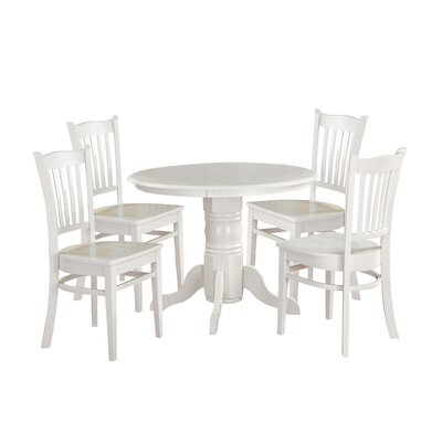 Morley Five Piece Dining Set Finish: White
