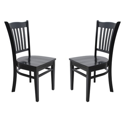 Two Sturdy Solid Wood Dining Chair Finish: Black