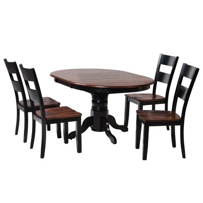Valleyview 5 Piece Dining Set Finish: Distressed Light Cherry / Black