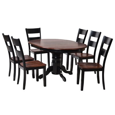 Valleyview 7 Piece Dining Set Finish: Distressed Light Cherry/Black