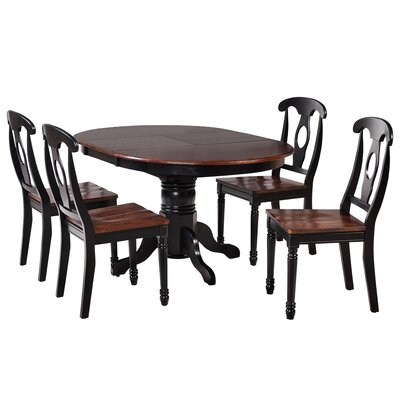 Valleyview 5 Piece Dining Set Finish: Distressed Light Cherry/Black