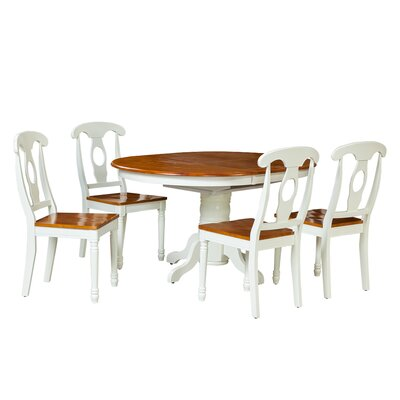 Valleyview 5 Piece Dining Set Finish: Oak/White