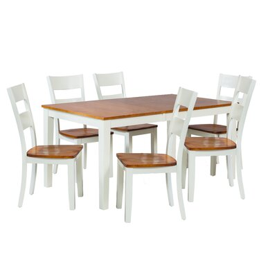 Boswell 7 Piece Dining Set Finish: Oak / White
