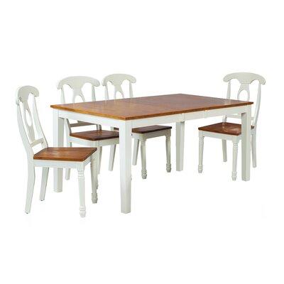 Boswell 5 Piece Dining Set Finish: Oak / White
