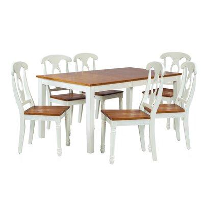 Boswell 7 Piece Dining Set Finish: Oak / White