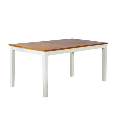 Boswell Extendable Dining Table Finish: Oak/Off-White