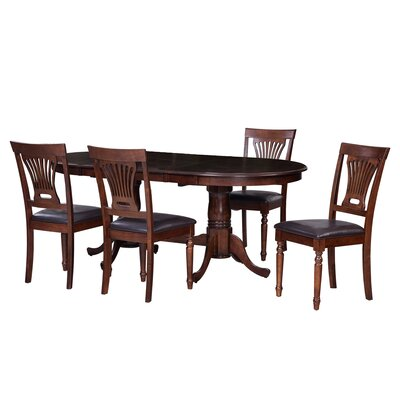Bateson 5 Piece Double Pedestals Table Dining Set
