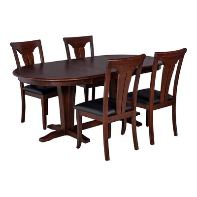 Bateson 5 Piece Curved Back Chair Dining Set