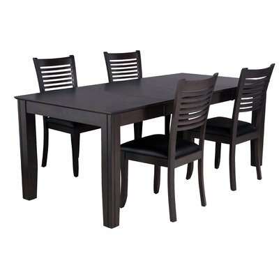 Charlotte 5 Piece Dining Set Finish: Dark Gray
