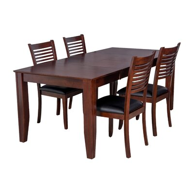 Charlotte 5 Piece Dining Set Finish: Espresso