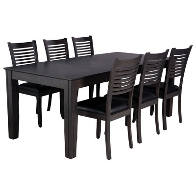 Charlotte 7 Piece Dining Set Finish: Dark Gray