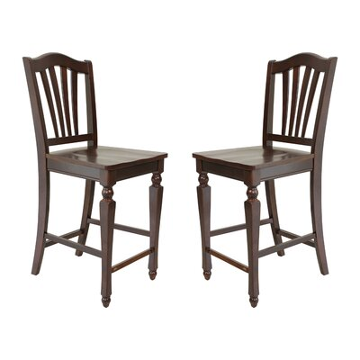 Two Sturdy Solid Wood Dining Chair Finish: Mahogany