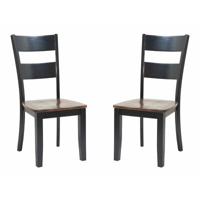 Solid Wood Dining Chair Finish: Light Cherry and Black