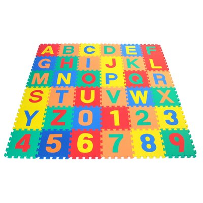 Alphabet Letter and Counting Numbers Soft Foam Learning Waterproof Playmat AR-236