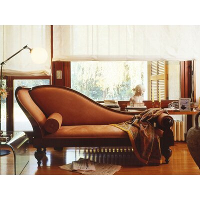 Chaise Lounge Upholstery: Light Brown