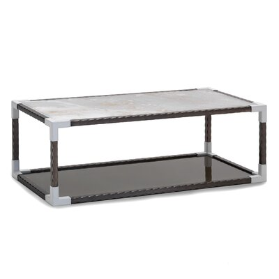 Marble Top Rectangular Coffee Table Top Color: Onyx Marble