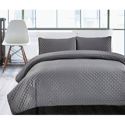 NMK Textiles, INC Hotel Diamond 3 Piece Coverlet Set 840307117717