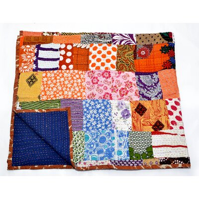 Kantha Handcrafted Cotton Throw