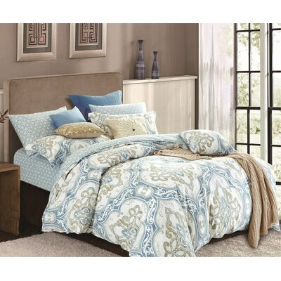 Norma 3 Piece Duvet Cover Set Size: King