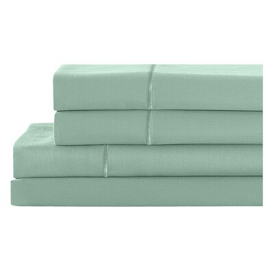 400 Thread Count 100% Cotton Pillowcase Size: King, Color: Dusky Green