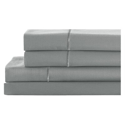 4 Piece 400 Thread Count 100% Cotton Sheet Set Size: California King, Color: Westchester Gray