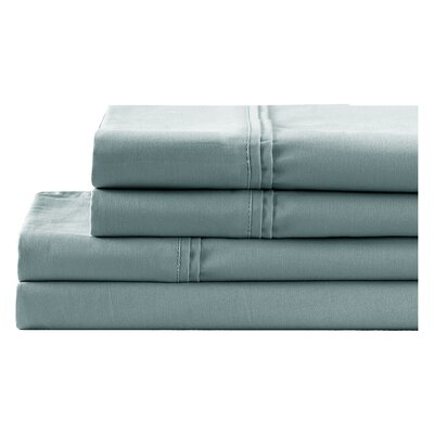 4 Piece 700 Thread Count Sheet Set Size: King, Color: Steel Blue