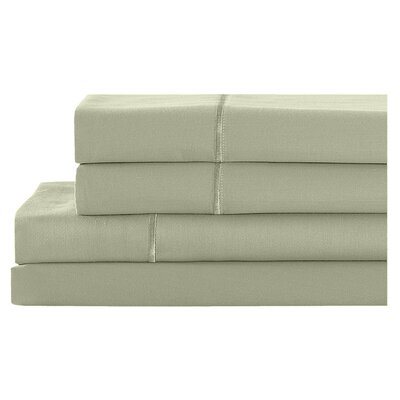 4 Piece 400 Thread Count 100% Cotton Sheet Set Size: California King, Color: Sage