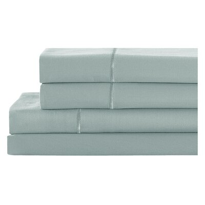 4 Piece 400 Thread Count 100% Cotton Sheet Set Size: King, Color: Chalk Blue