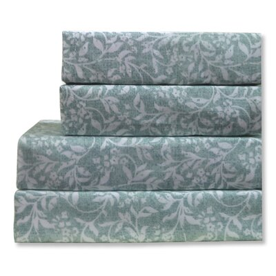 Vines Leaf 4 Piece 200 Thread Count100% Cotton Sheet Set
