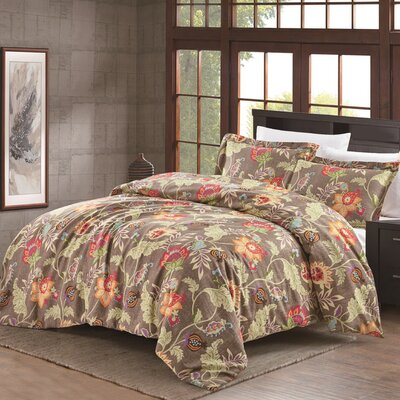 Hopeless Romantique Jacobean 3 Piece Quilt Set Size: Full/Queen, Color: Weathered Flax