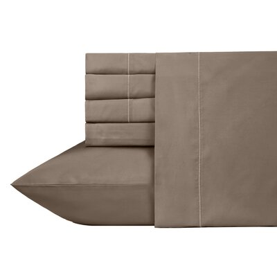 Ultra Hotel Luxury 6 Piece 700 Thread Count Sheet Set Size: Full, Color: Taupe
