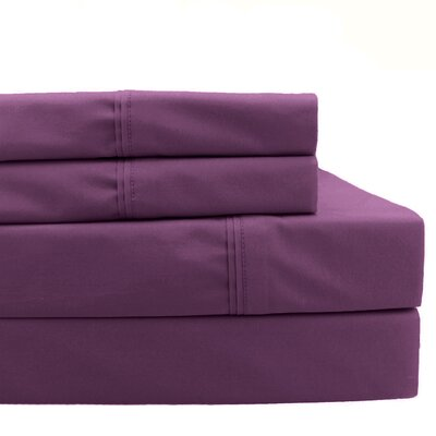 4 Piece 700 Thread Count Sheet Set Size: Queen, Color: Purple
