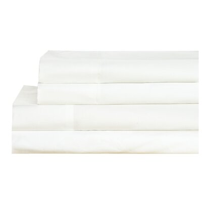 4 Piece 600 Thread Count 100% Cotton Sheet Set Size: California King, Color: White