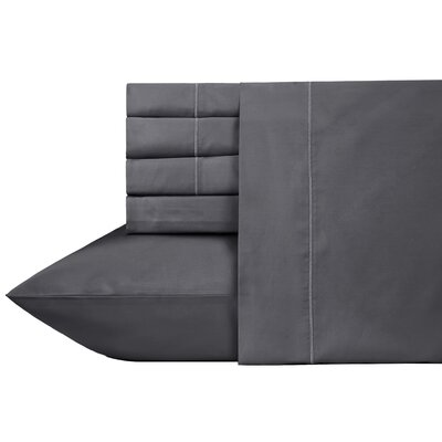 Ultra Hotel Luxury 6 Piece 700 Thread Count Sheet Set Size: Queen, Color: Midnight Gray
