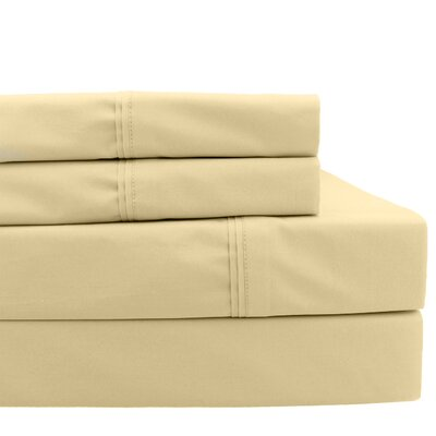 700 Thread Count Pillowcase Size: Standard, Color: Pale Gold