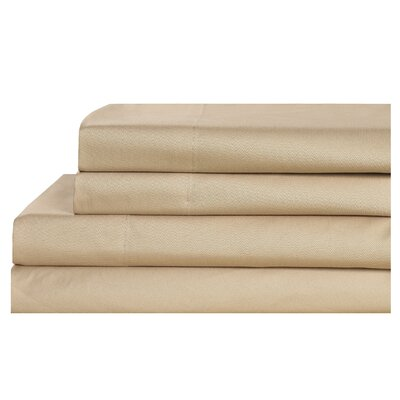 4 Piece 600 Thread Count 100% Cotton Sheet Set Size: King, Color: Taupe